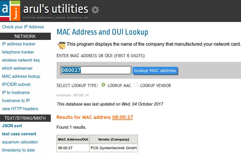 mac-address-lookup
